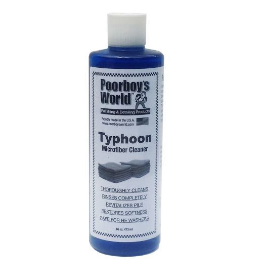 Poorboy's World Typhoon Microfiber Cleaner do czyszczenia mikrofibry 473ml